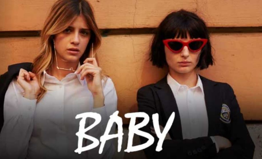 "A screenshot of the Netflix series ""Baby""."